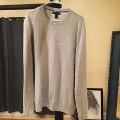 Men's Banana Republic XL Gray Sweater Mens Banana Republic Cotton Cashmere Gray Sweater. XL Banana Republic Sweaters Crewneck