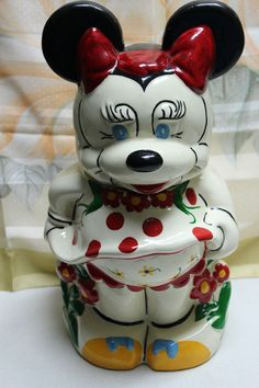 Vintage DISNEY Turnabout Mickey Minnie Cookie Jar