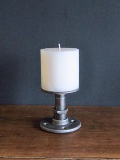 Industrial Pipe Candle Holder  Medium by IndustrialHomeBazaar, $24.00 Industrialhomebazaar.etsy.com