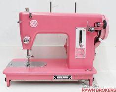 Sears-Kenmore-159-110-Hot-Pink-All-Metal-Gears-VIntage-Sewing-Machine