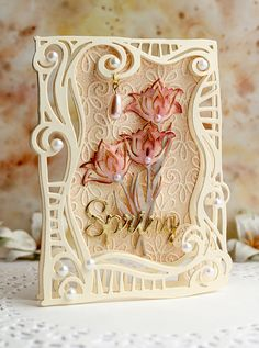 Swirl Frame Card - Top Folding