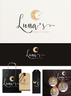"""The logo is for a company that imports furniture and ornaments from Indonesia, all handmade by artisans that live in the surrounding islands. They choose the best products and ship them to the US. """"Luna"""" means """"Moon"""" in English and this is why a moon shape was wanted in the logo. Inside the moon I thought to have a pattern that would remind of the traditional Indonesian sarongs. The color tones are earthy, warm, inviting. The whole design was intended to be feminine, el..."""