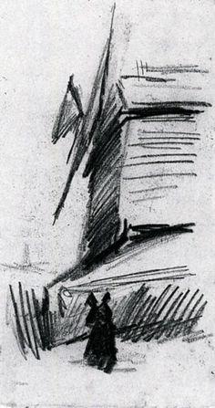 Windmill at Montmartre, 1886, Vincent van Gogh