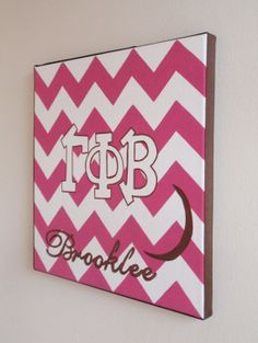 hand painted personalized Gamma Phi Beta by PreppyInPinkUSA