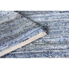 Mack & Milo™ Striped Handmande Braided Cotton Bright Blue/Navy Rug & Reviews   Wayfair Blue And White Rug, Peaceful Bedroom, Rug Loom, Navy Rug, Woven Rug, Blue Area Rugs, Braids, Cotton, Handmade