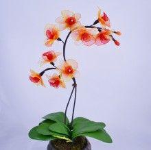 Nylon Flower Orchid Arrangement (4)