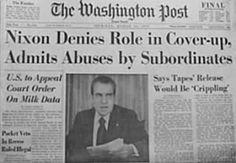 President Richard Nixon resigns due to Watergate scandal, 1974