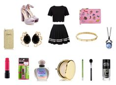 """""""Heart Shein Rowve 2017"""" by ibur-7snowflakes ❤ liked on Polyvore featuring Ted Baker, JustFab, Moschino, Kate Spade, Bounkit, Cartier, Stephen Webster, MAC Cosmetics, Maybelline and Christian Dior"""