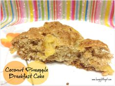 Coconut Pineapple Breakfast Cake - Fluffy, moist, no butter, no oil, simply delicious!