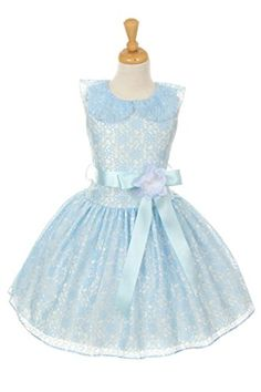 Cinderella Coutureflower lace skater dress with satin ribbon royal blue 14 >>> Check out this great product.