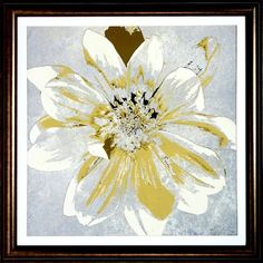 Accessories, Golden Flowers Framed Art II, Accessories   Havertys Furniture