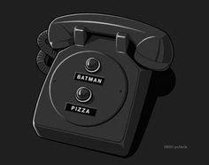 our telephone - batman and pizza