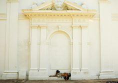 "A man sleeps by the ""Paraguayan Heroes"" pantheon in Asuncion, Monday, Feb. 16, 2009. (Jorge Saenz/AP) (Jorge Saenz/AP)"