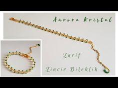 Making Bracelets With Beads, Beaded Bracelets, Neck Chain, Beadwork, Beading, Gold, Jewelry, Youtube, Tutorials
