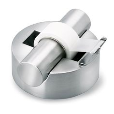 Blomus stainless steel tape dispenser is the ultimate accessory for office workspace. Coordinates nicely with the blomus stapler, note roll holder, tape measure, and business card cases. Foam backed t Contemporary Desk Accessories, Contemporary Decor, Green Label, Cadeau Design, Scotch Tape, Tape Dispenser, Office Accessories, Desktop Accessories, Innovation Design