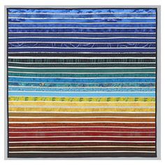 Quilted wall art. Minimal. Fiber. Summer on the prairie. Modern quilt. ($800) ❤ liked on Polyvore featuring home, bed & bath, bedding, quilts, textile bedding, quilted bedding and fabric bedding