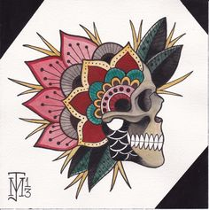 ideas for tattoo mandala skull art prints - ideas for tattoo mandala sk. - ideas for tattoo mandala skull art prints – ideas for tattoo mandala skull art prints - Kunst Tattoos, Skull Tattoos, Tattoo Drawings, Print Tattoos, Traditional Tattoo Skull, Traditional Tattoo Flowers, Flash Art Tattoos, Japanese Forearm Tattoo, Mandala Tattoo Design