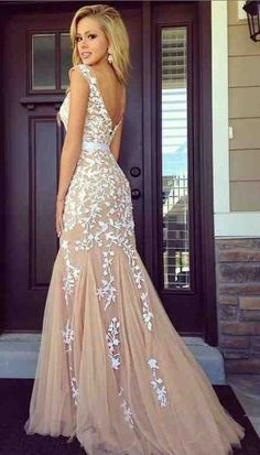 Aliexpress.com : buy 2015 abendkleider long prom dresses sheer scoop with cap sleeve appliques tulle mermaid evening gown elegant long formal dress from reliable scoop coater screen printing suppliers on pretty girl trade co., ltd