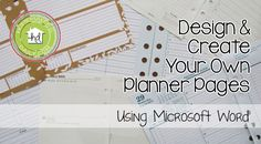 Design and Create Planner Pages Using Word                              …