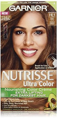 Garnier Nutrisse Ultra Color Creme, HL1 Bright Toffee (Pack of 2) -- Want to know more, click on the image.