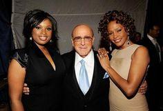 Industry mogul Clive Davis with Whitney Houston and Jennifer Hudson.