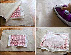 Como hacer un sobre con una bolsa de plastico.
