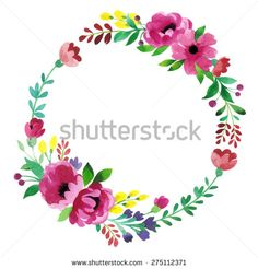 Floral Frame. Cute succulents arranged un a shape of the wreath perfect for wedding invitations and birthday cards. Vector design