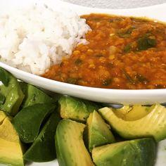 Curry de lentilles (vegan) Graham, Sans Gluten, Chana Masala, Salsa, Vegan, Ethnic Recipes, Inspiration, Food, Cilantro
