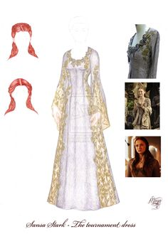 ASOIAF paperdolls - Sansa Stark - Tournament dress by maya40.deviantart.com on @deviantART