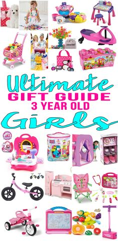 BEST Gifts 3 Year Old Girls! Top gift ideas that 3 yr old girls will love! Find presents & gift suggestions for a girls 3rd birthday, Christmas or just because. Get ideas from learning toys to educational gifts to award winning toys and more! Find unique, memorable and age appropriate toys for three year olds.  Get children the toy of the year to celebrate their third birthday. Amazing products for daughters, grandkid, niece, friend or best friend. Shop the best toys for 3 year old girls…