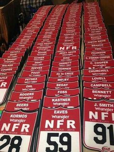 NFR 2013 you know your obsessed when you can find your future husbands number in that whole line up!!! <3 <3