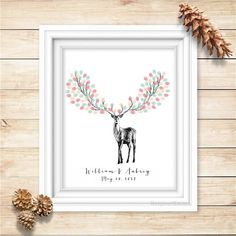 Oh deer, this holiday fingerprint guest book is full of major cheer