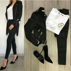 Which combination did you like the most? Don& forget to tag your friends with a full self. Explore the . Classy Outfits, Outfits For Teens, Chic Outfits, Trendy Outfits, Fall Outfits, Fashion Outfits, Office Outfits, Fashion Tv, Korean Fashion