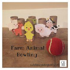 Farm animal bowling! So cute! Little Blue Truck — Cute Kids Reading Books
