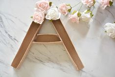 The Pampered Baby: DIY Flower Monogram