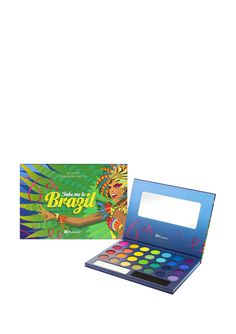 Take Me to Brazil Palette Eyeshadow palette; Brazil inspired themed colors; 30 colors; Comes with mirror; Not tested on animals Palette #MirrorWomen #Beauty
