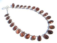 Red Spectrolite Faceted Pear Semiprecious by beadsogemstone, $20.51