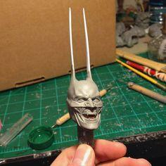 Another look at this badass 1/6 scale wax vampire Batman at the work desk of the phenomenal sculptor @caine_productions. -- #sculpt #sculpture #spfx #sfx #vampire #dracula #batman #batmanvsuperman #suicidesquad #darkknight #dccomics #justiceleague #statue #bat #hottoys #nosferatu #wax #workshop #specialeffects #studio #sculptor by sfxatlas