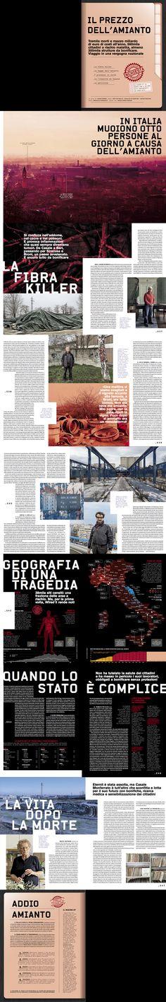 "Wired Italy - issue nr. 71  ""Asbestos investigation""  Photo: Emanuele Cremaschi -  Art: Marco Goran Romano - Infographics: Massimiliano Mauro - Art direction: Corrado Garcia - Photo editor: Francesca Morosini"