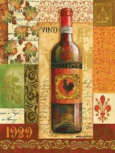 Gregory Gorham Solid-Faced Canvas Print Wall Art Print entitled Old World Wine I Abstract Canvas, Canvas Wall Art, Wall Art Prints, Poster Prints, Canvas Prints, Posters, Wine Painting, Wine Decor, Wine Art