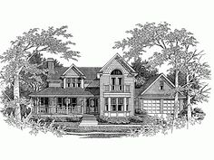 Queen Anne House Plan with 2448 Square Feet and 4 Bedrooms from Dream Home Source   House Plan Code DHSW63276