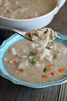 Easy Chicken and Dumplings - Southern style using canned Pillsbury Flaky Biscuits