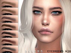 Female and male Found in TSR Category 'Sims 4 Eyebrows' Sims 4 Curly Hair, Sims 4 Hair Male, Sims Hair, Sims 4 Cc Eyes, Sims 4 Mm Cc, Sims 4 Body Mods, Sims Mods, Sims 4 Mods Clothes, Sims 4 Clothing