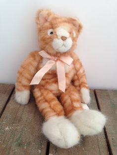 Russ 15 Plush Orange Tabby Cat Scratch Stuffed by ThePinkRoom