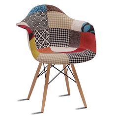 EUROSILLA-Sillón BEATPATCHWORK2-ST013  vintage estilo retro tapizado patchwork