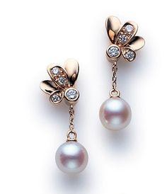 Mikimoto Dandelion Inspired Earrings