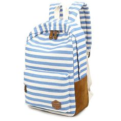 Size: Color:Light Blue/Deep Blue/Coffee/Pink/Apricot/RedMaterial:CanvasStyle:leisure/College/TravelFashion Element: StripesCapacity: Can Hold inches Magzines and Umbrella,ect. Lace Backpack, Retro Backpack, Striped Backpack, Striped Bags, Backpack For Teens, Cute Backpacks, Girl Backpacks, College Backpacks, Canvas Backpacks