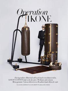 Karl Lagerfeld for Harper's BAZAAR Germany November 2014 #LV
