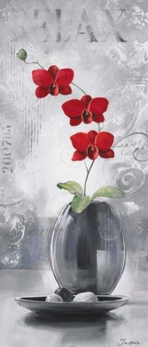 Jasper-Orchids-in-Bloom-III-Fertig-Bild-30x70-Wandbild-Blumen-Orchidee