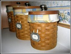 kitchen canisters - Longaberger